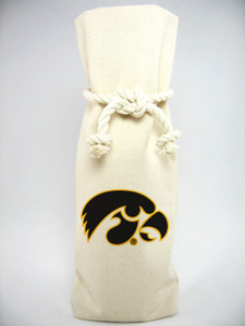 University of Iowa Canvas Bottle Tote
