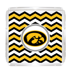 University of Iowa Lucite Tray 12x12
