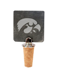 University of Iowa Slate Bottle Stopper