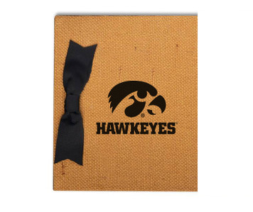 University of Iowa Burlap Brag Book