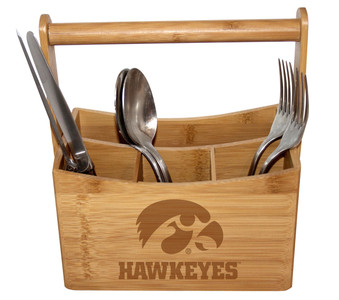 University of Iowa Bamboo Caddy