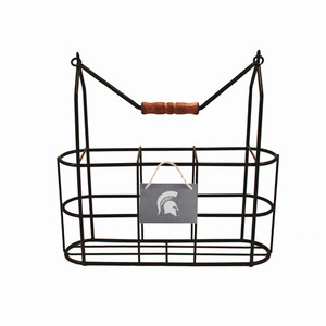 Michigan State Vintage Bottle Carrier