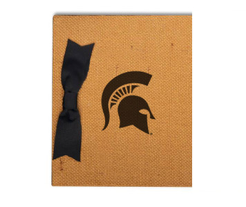 Michigan State Burlap Brag Book