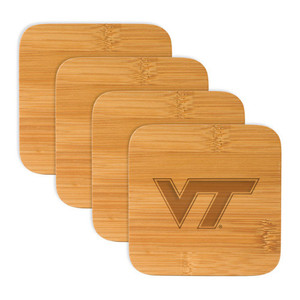Virginia Tech Bamboo Coasters