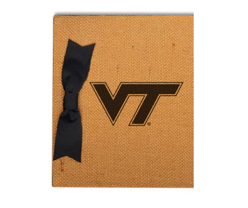 Virginia Tech Burlap Brag Book