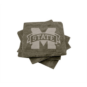 Mississippi State Slate Coasters (set of 4)