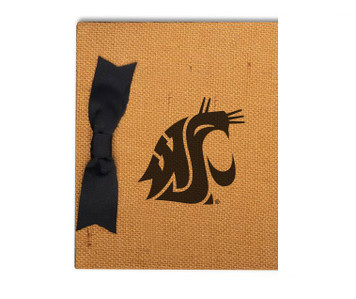 Washington State Burlap Brag Book
