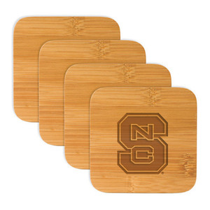 North Carolina State Bamboo Coasters