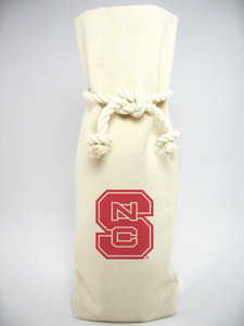 North Carolina State Canvas Bottle Tote
