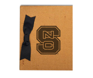 North Carolina State Burlap Brag Book