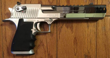 Magnum Research Desert Eagle, Semi-Auto, Hard Chromed, Compensated in .50AE - 20 Rounds Included