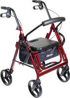 "Drive Duet Rollator/Transport Chair w/8"" Casters"