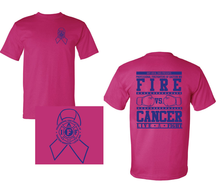 IAFF Breast Cancer T-Shirt - IAFF Local 2665 Store