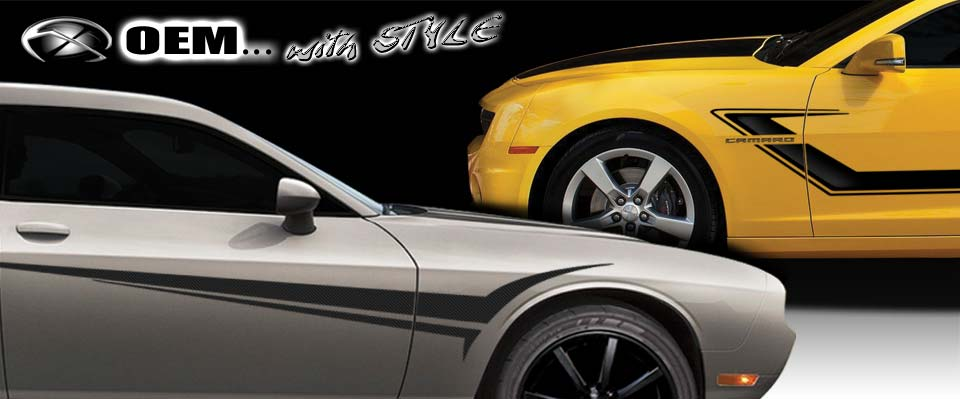 OEM Vehicle Graphics, Racing Stripes and Decals