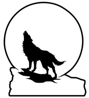 Howling Wolf -Decal