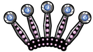 Jeweled Crown Decal