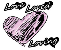 Loved Heart - Decal