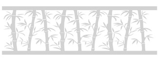 EtchedFX glass film style: Bamboo Breeze - GE4001