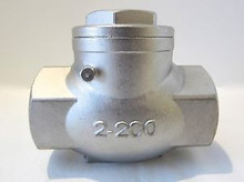 Stainless 316 Threaded Swing Check Valve 200#