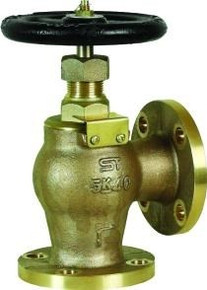 JIS Bronze Flanged Globe Valve with Union Bonnet, JIS B220 5 k Drilled