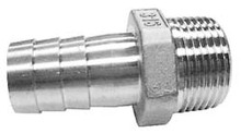 "1"" Stainless 316 King Nipples (Hose Barb x Male NPT)"