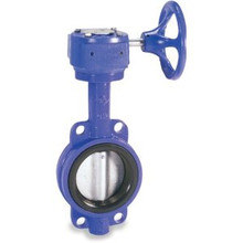 Ductile Iron Wafer, SS Disc, EPDM, Gear Op Butterfly Valve w/ ABS Type Approval