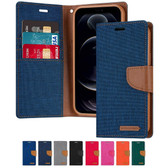 Goospery iPhone Xs Max Canvas Fabric Flip Wallet Case Cover Apple