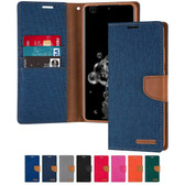 Goospery Samsung Galaxy Note 10 Canvas Fabric Wallet Case Cover Note10