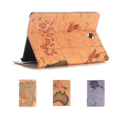 """Samsung Galaxy Tab A7 Lite 8.7"""" T220 T225 World Map Leather Case Cover"""