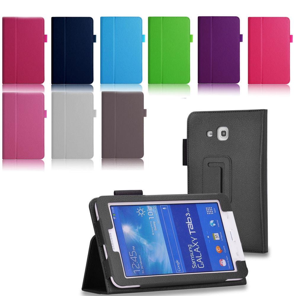 Samsung Galaxy Tab 3 Lite 7 0 T110 T111 T113 Folio Case Cover 7 inch