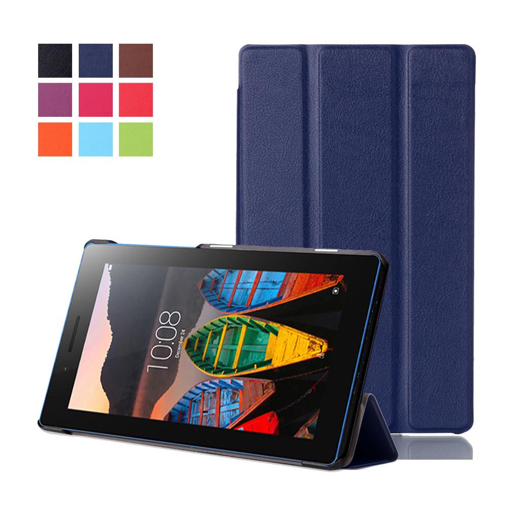 pretty nice 3b190 81ccc Lenovo Tab 3 7 Essential Leather Case Cover Tab3 710F 710I 7