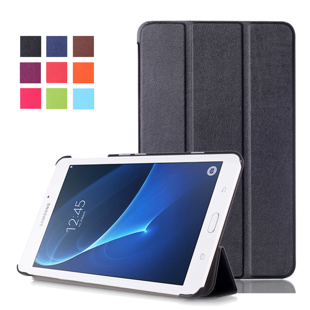 Ubrugte Samsung Galaxy Tab A/A6 10.1 Smart Leather Case Cover T580 T585 YY-09