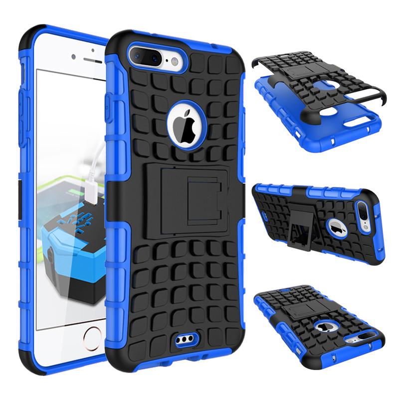 superior quality 039d4 eb9a4 Heavy Duty iPhone 8 Plus 7 Pls Shockproof Case Cover Tough Apple 8+ 7+