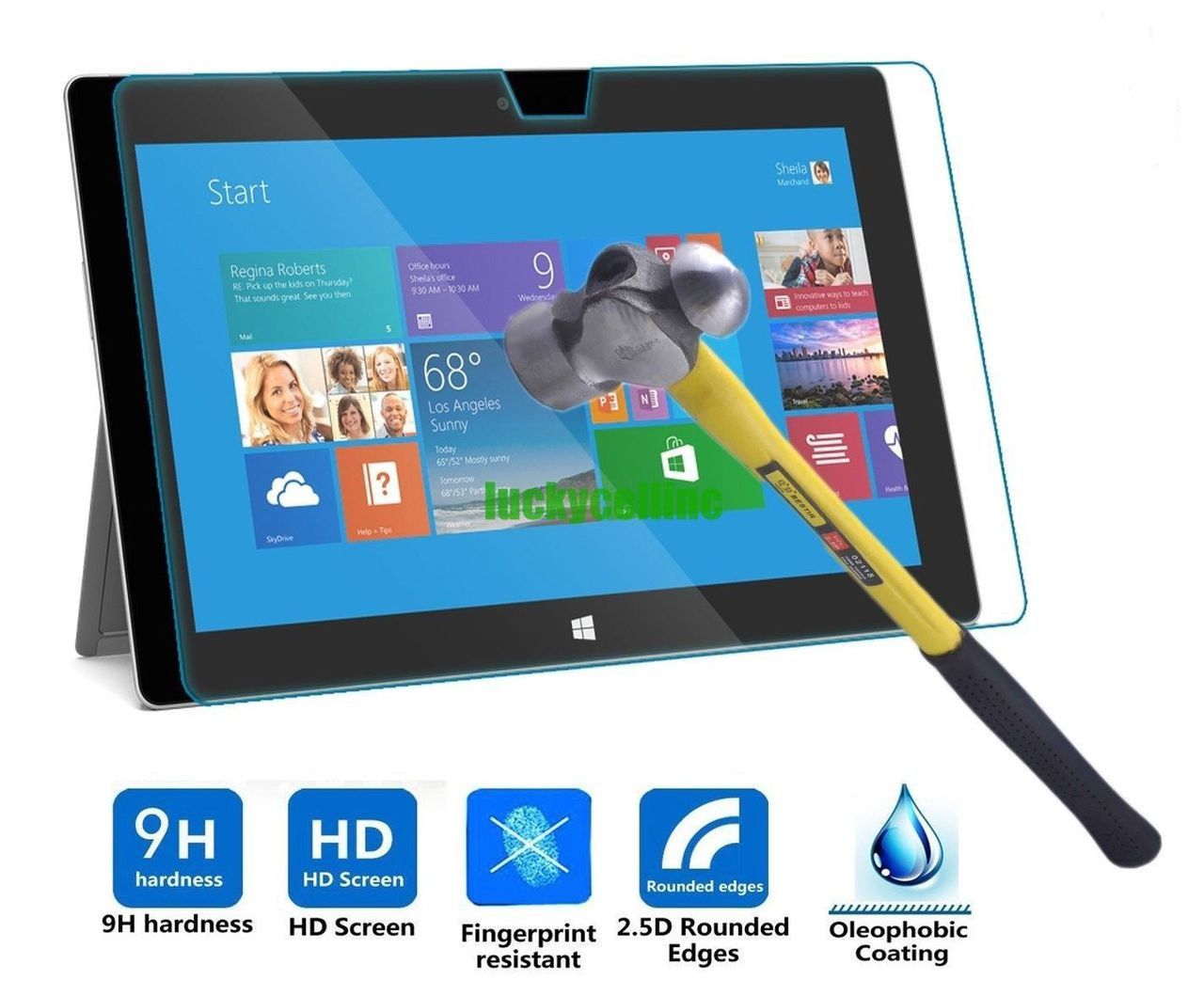 """For Microsoft Surface 3 10.8/"""" Premium Real Tempered Glass Screen Protector Film"""