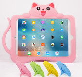 Kids iPad 9.7 2018 6th Gen Silicone Case Cover Shockproof Apple Cat