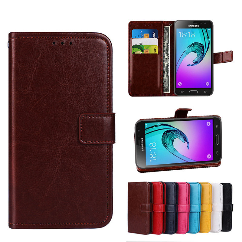 check out f6264 680f7 Folio Case Samsung Galaxy J3 2016 / J3 6 Handset J320 Leather Cover