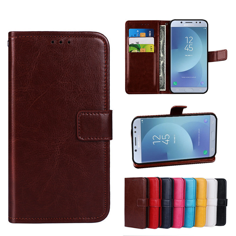 online store 66e30 3e5cc Folio Case Samsung Galaxy J5 Pro 2017 Leather Cover J530 F/Y Phone