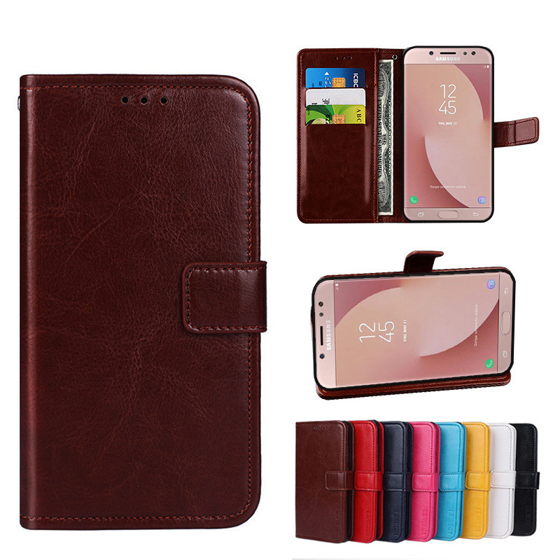 on sale 97998 479a8 Folio Case Samsung Galaxy J7 Pro 2017 Leather Cover J730 GM/DS Handset