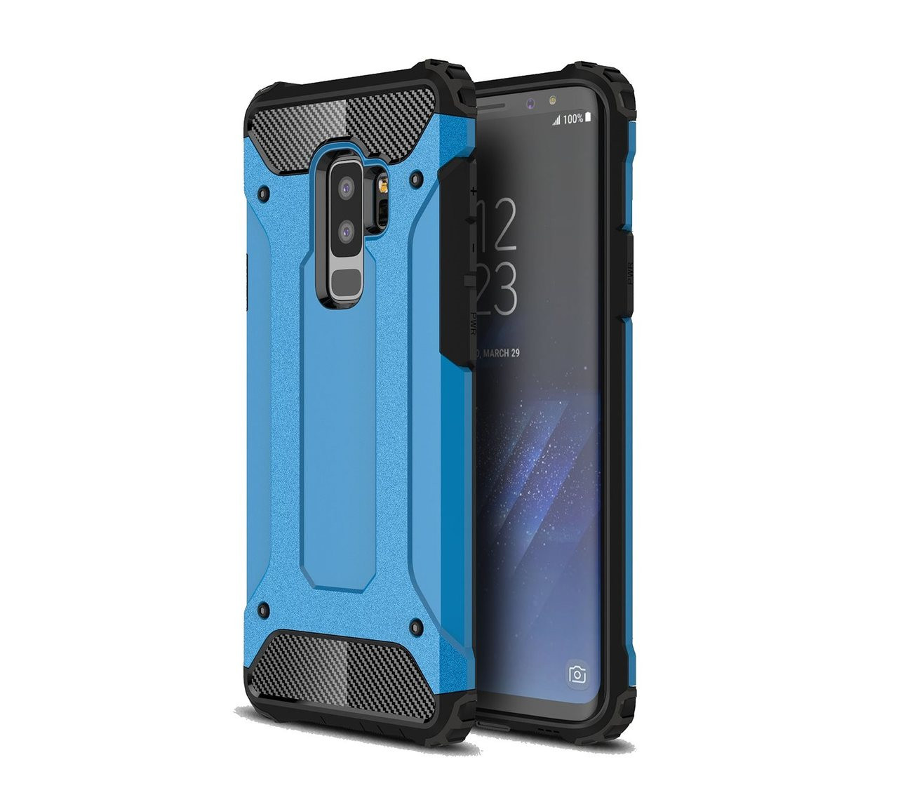 the latest a6f78 55f4c Shockproof Samsung Galaxy S9 Plus S9+ Heavy Duty Phone Case Cover G965