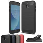 Slim Samsung Galaxy J7 Pro 2017 Carbon Fiber Soft Case Cover J730 G/MD