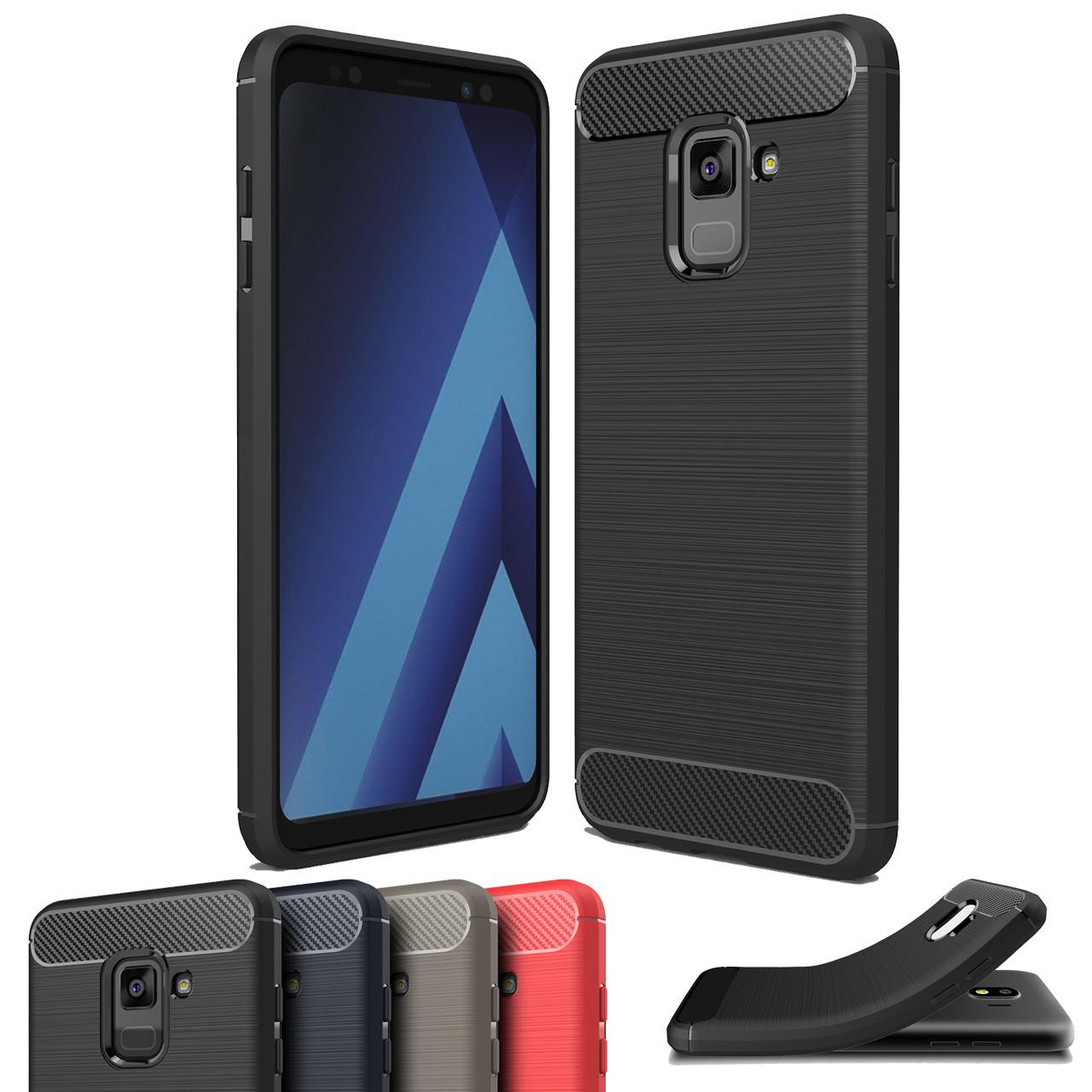 innovative design 8251e 26d4b Slim Samsung Galaxy A8 2018 Carbon Fibre Soft Carbon Case Cover A530