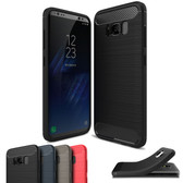 Slim Samsung Galaxy S8 Plus S8+ Carbon Fibre Soft Phone Case Cover S