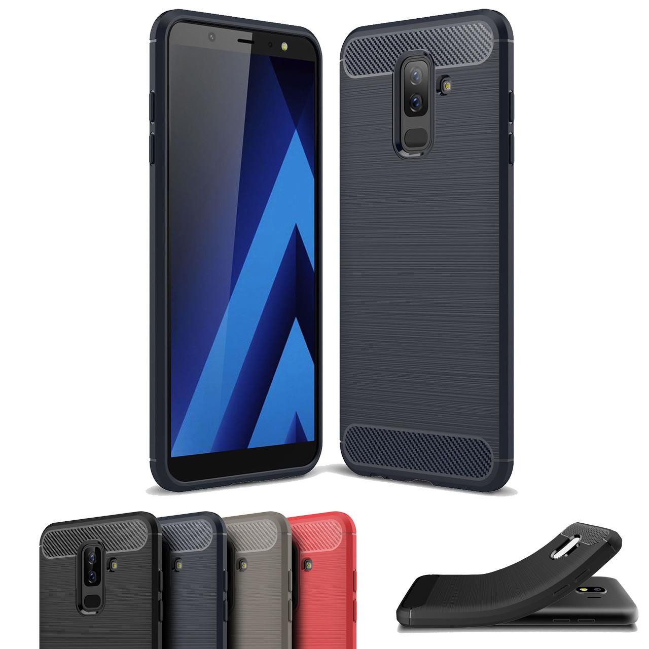 pretty nice c0618 36bfe Slim Samsung Galaxy J8 Carbon Fibre Soft Carbon Case Cover 2018 J810