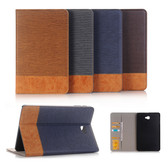 "Hybrid Samsung Galaxy Tab A 10.5"" T590 T595 2018 Leather Case Cover"