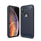 Slim iPhone Xs X Shockproof Soft Carbon Case Cover Apple Skin iPhoneXs