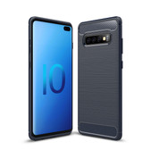 Slim Samsung Galaxy S10+ Plus Carbon Fiber Soft Carbon Case Cover G975
