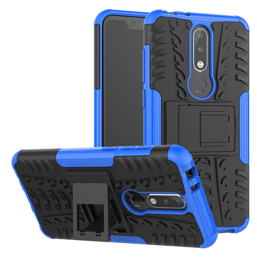 quality design 6eef5 27b93 Heavy Duty Nokia 5.1 Plus / X5 Mobile Phone Shockproof Case Cover