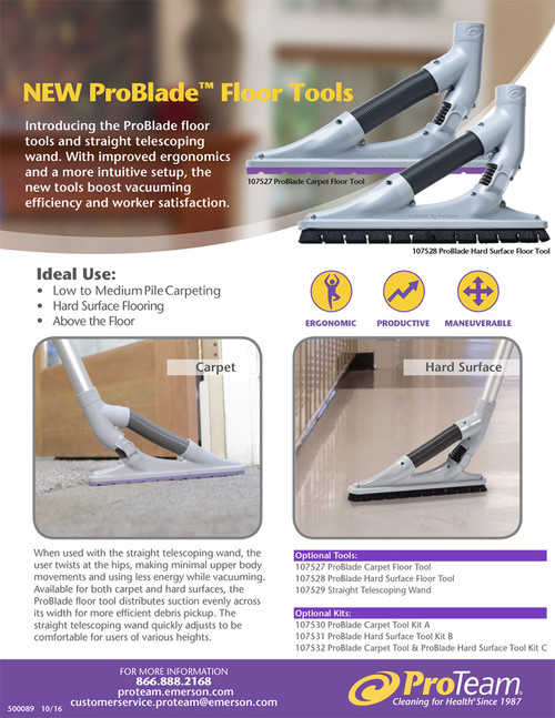 ProTeam Part #107532 ProBlade Carpet & Hard Surface Tool Kit