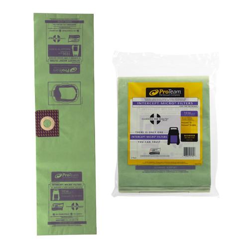 ProTeam Part #107181 Paper Filter Bag 3 Pack, Fits ProGuard Wet/Dry 10 Gallon