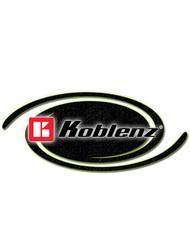 Koblenz Thorne Electric Part #17-3218-9 Floor Machine Warning Plate